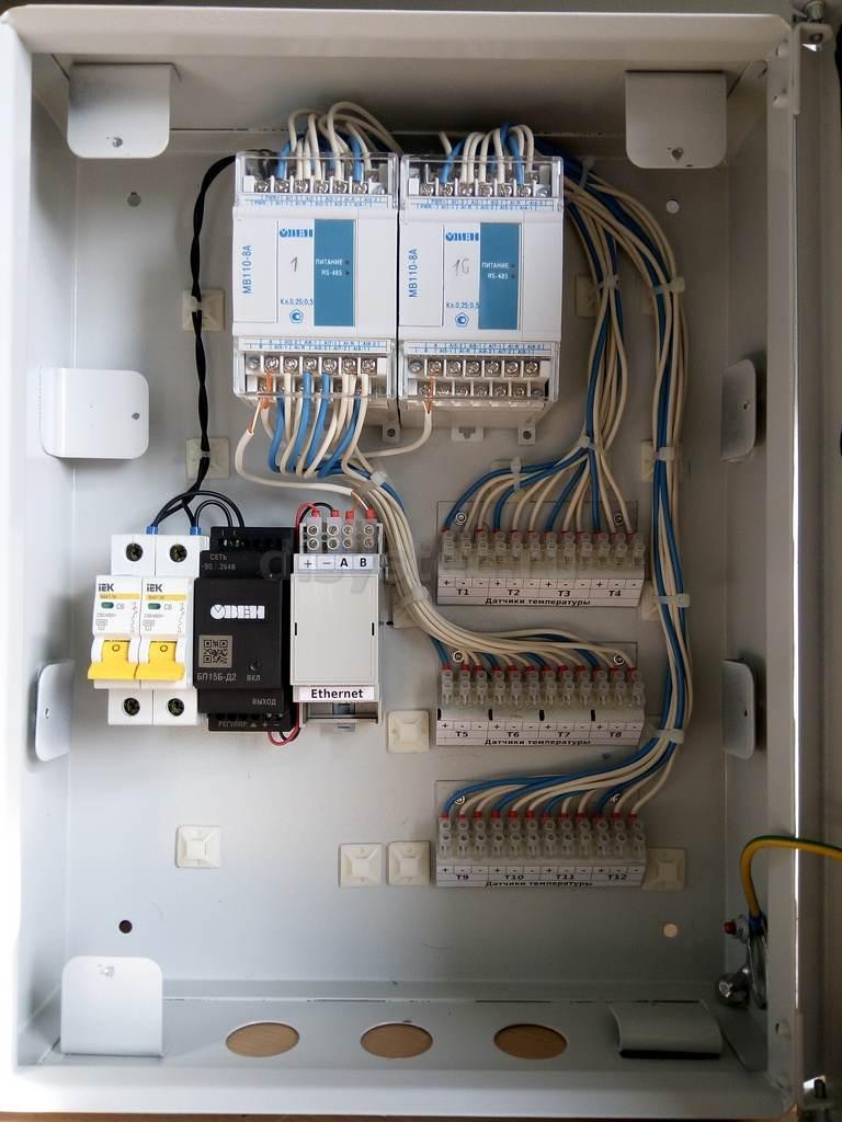Шкаф системы мониторинга температуры шахты